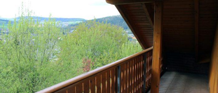 Balkon mit Blick über Höxter